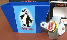 Hamms Bear Beer Card / Cap Catcher & Bottle Cap Opener  Land of Sky Blue Waters