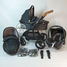 Huevo BabyStyle Negro Sistema De Viaje Cochecito Cochecito Cochecito Espresso asiento de coche Maxi