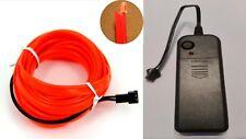 Ambiente beleuchtung EL Lichtleisten Innenraumbeleuchtung 2AA batterie 1m Rot
