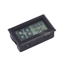 Digital LCD Indoor Temperature Humidity Meter Thermometer Hygrometer Black S
