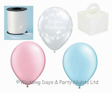 Clear Christening Butterfly Balloons Helium Air Girl Boy Decorations Qualatex