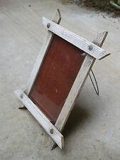 Ancien petit cadre photo bois à poser avec vitre french antique