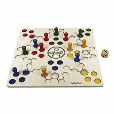 Beleduc 23654/Oops, large wooden ludo game