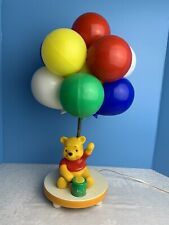Vintage 1980 Winnie The Pooh Balloon Nursery Lamp & Nightlight Works Great