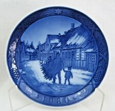 Royal Copenhagen 1980 Christmas Plate Bringing Home The Christmas Tree - Exc