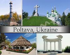 Ukraine - POLTAVA - Travel Souvenir Flexible Fridge Magnet