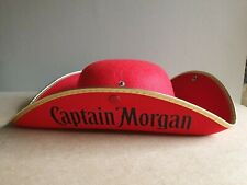 Captain Morgan Rum - Tricorn Pirate Hat Fancy Dress Halloween (gar)