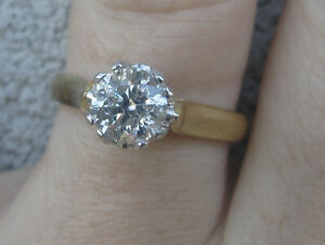 $13,100 Beautiful vintage 1.27ct Diamond Solitaire ring