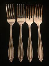 PFALTZGRAFF Beaded Stainless Flatware Lot 4 Dessert Forks