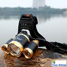 LED Headlamp Headlight Flashlight Rechargeable 18650 Waterproof Head Torch Light