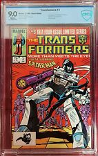 TRANSFORMERS #3 CBCS 9.0 (LIKE CGC) BLACK SPIDERMAN AND NICK FURY APPEARANCE
