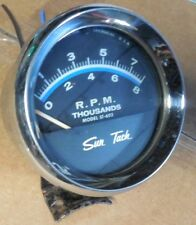 Sun ST-602 Tach, 0-8K RPM Chrome Cup Mount works rat hot rod scta gasser vintage
