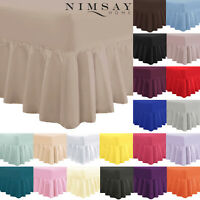 "EXTRA DEEP 12"" + 16"" SOFT FRILLED VALANCE FITTED SHEET SINGLE DOUBLE SUPER KING"