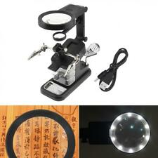 25X Desk-top Multifunctional Adjustable Rotatable Welding Magnifier with 10 LED