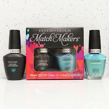 CUCCIO Veneer Match Makers - GRECIAN SEA 6041 Gel Soak Off &Nail Lacquer Duo Kit