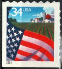 USA Sc. 3495 34c Flag over Farm 2001 MNH bklt. single