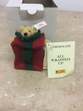 NEW Steiff 665882 All Wrapped Up Christmas Ornament in original box 5000