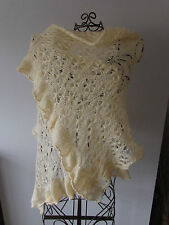 UNIQUE* Hand knitted chunky,big & soft lace mohair scarf / shawl / wrap