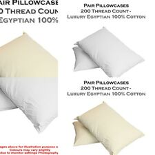 UK-2016  EGYPTIAN COTTON PILLOWCASES PAIRS 200 THREAD COUNT PILLOWCASE