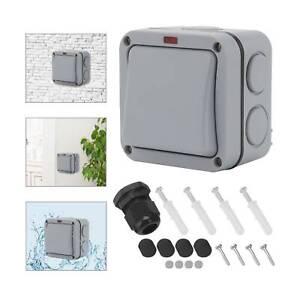 1 Gang IP66 Waterproof Outdoor Garden Weatherproof Single Light Switch uk