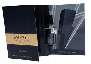 Carolina Herrera Bad Boy Le Parfum EDP Parfum 1.5ml Spray Vial Mens Perfume NEW