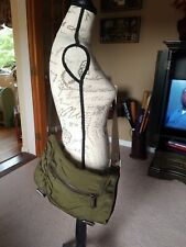 Bookbag Laptop Messenger Bag Leather Nylon Olive Tote Student BANANA REPUBLIC