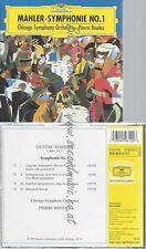 CD--CHICAGO SYMPHONY ORCHESTRA-MAHLER: SYMPHONY NO. -BOULEZ-