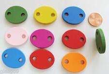 10 perles en bois peint PLAQUE GOURMETTE personnalisable mix couleurs 25mm PB40
