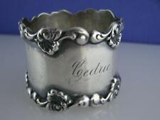 Victorian Sterling TOWLE Napkin Ring ornate scroll pattern ~ CEDRIC