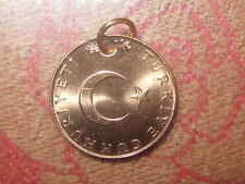 TURKEY TURKISH MOON AND STAR COPPER WICCAN COIN CHARM PENDANT NECKLACE