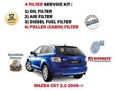 FOR MAZDA CX7 2.2DT CRTD  2009-> SERVICE KIT OIL AIR FUEL POLLEN 4 FILTER SET