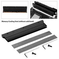 RAM Heatsink Cooler RGB 6led Light Radiator Desktop Memory Cooling Vest Black GM