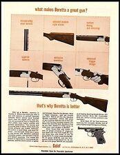1964 Baretta Over Under Shotgun What Makes it better Vintage Print Ad