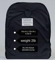 Large Bulletproof Armor Plate Soft ARAMID Kevlar Pad NIJ IIIA Rated 16x12in 2lb
