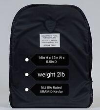 Shield Pack Bulletproof Armor Plate insert 12x16 Soft ARAMID Pad Rated NIJ IIIA