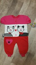 Kitty Cat Toddler 2T Romper Jumper One Piece Jumpsuit Pink Red White Pattycakes