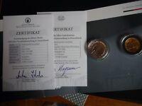 Münze + Medaille Berlin Silber Gold 2 x 300 Jahre Porzellan 10 Euro Deutschland