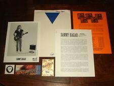 "Sammy Hagar ""Red Voodoo"" 1999 Mca Records Press Kit Backstage Pass, Ticket, Pick"