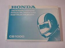 HONDA CB1000 1993 big one OWNER MANUAL DEL PROPIETARIO  INSTRUKTIEBOEK