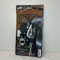 PARRIS Doc Holiday Replica Die Cast Toy Cap Gun  w/orange tip + Holster & Belt