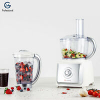 Electric 2 in 1 Food Processor Slicer Mixer Set Chopper Multi Speed Blender 700W