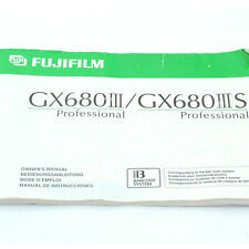 Fuji GX680 III / IIIS Instruction Manual, original, excellent + cond. (13867)