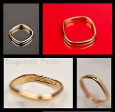 BRAND NEW TOM FORD for GUCCI YELLOW GOLD SQUARE RING WEDDING BAND 11.5