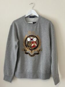 Ralph Lauren Polo Anniversary Seoul South Korea Crest Sweatshirt - Grey / UK M