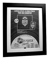 BIG COUNTRY+The Crossing+POSTER+AD+RARE+ORIGINAL 1983+FRAMED+FAST GLOBAL SHIP