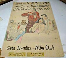 Dibujo Acuarela Quino 24 x 35 Vigilando Bailando Grande Hotel Firmado Eros 1947