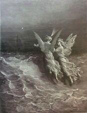 Gustave Doré Anciens Marins 1876 XIX ème Marine Marin  les guides