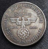 WW2 GERMAN COLLECTORS COIN 1 SCHILLING KAMPFSPENDE NSDAP 1933 HITLER