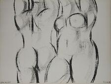 """""""Femmes nues aux bras levés"""" Lithographie signée Isa PIZZONI"""