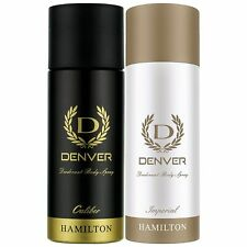Denver Calibre & Imperial Deodorant Fragrances Spray For Men 165 ml Pack of 2
